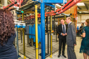 HRH The Duke of Kent sees the Bloccs manufacturing process