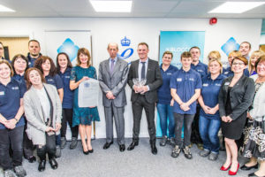 HRH The Duke of Kent with PDM staff