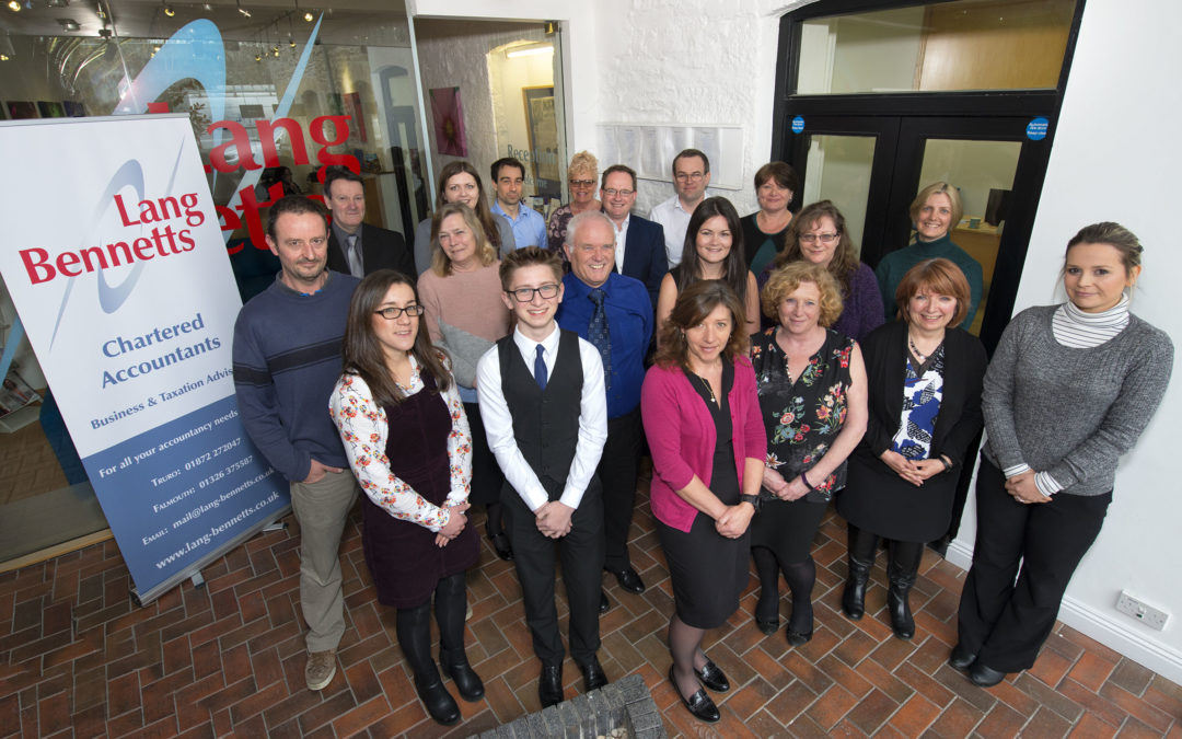 Lang Bennetts awarded 'Most Outstanding Personal Tax Practice – Cornwall' title