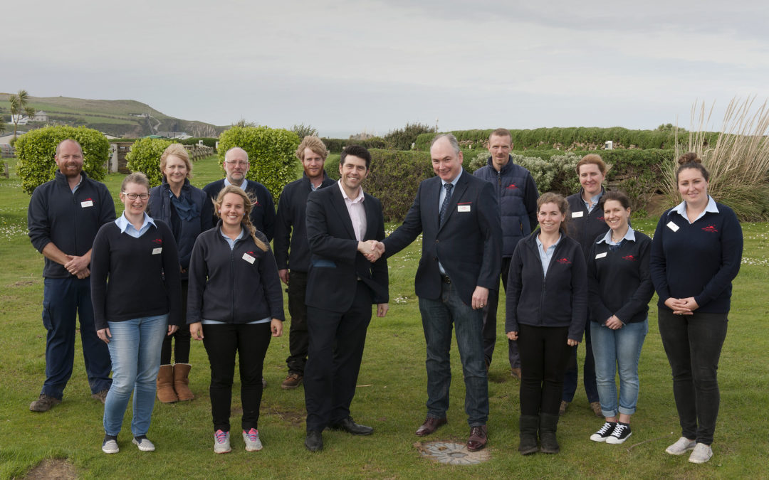 Local MP visits holiday park that pays its staff exceptionally well