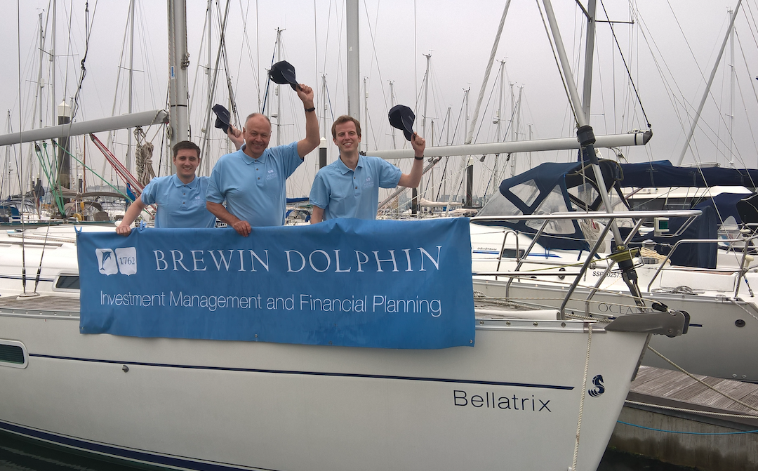 Brewin Dolphin team set sail for charity