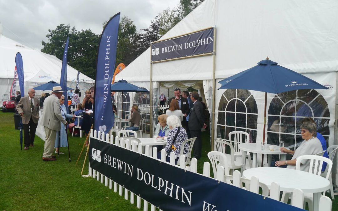 Brewin Dolphin entertains more than 400 guests at  Taunton Flower Show