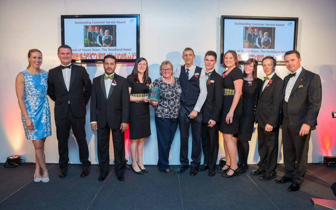 'Outstanding Customer Service' from Headland's front of house team