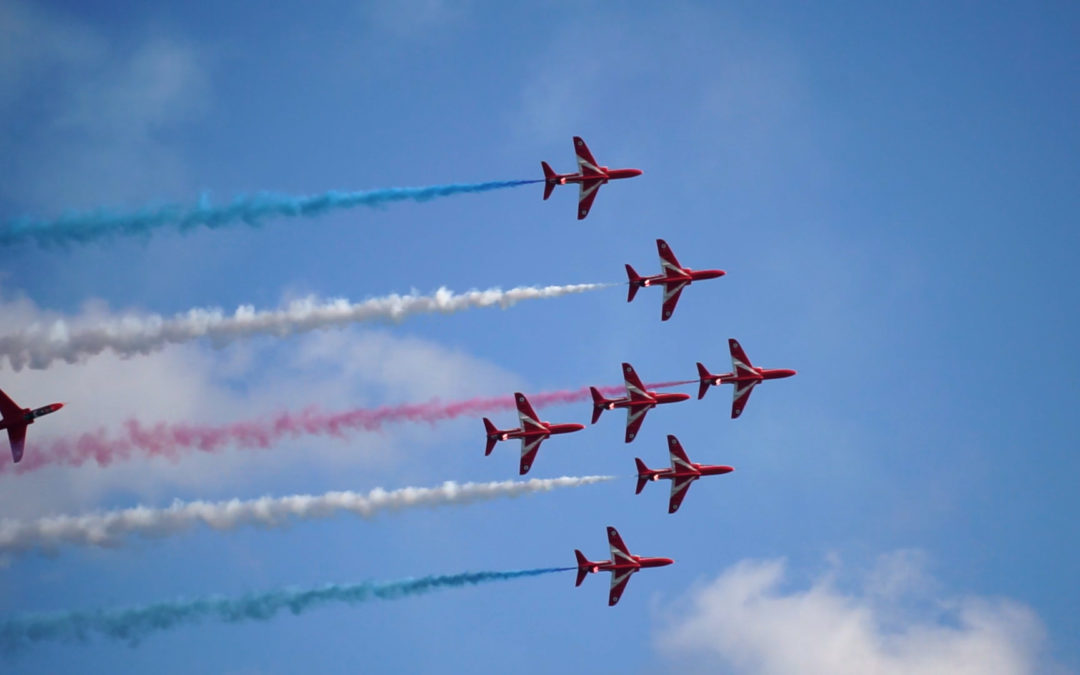 Afternoon tea with the Red Arrows