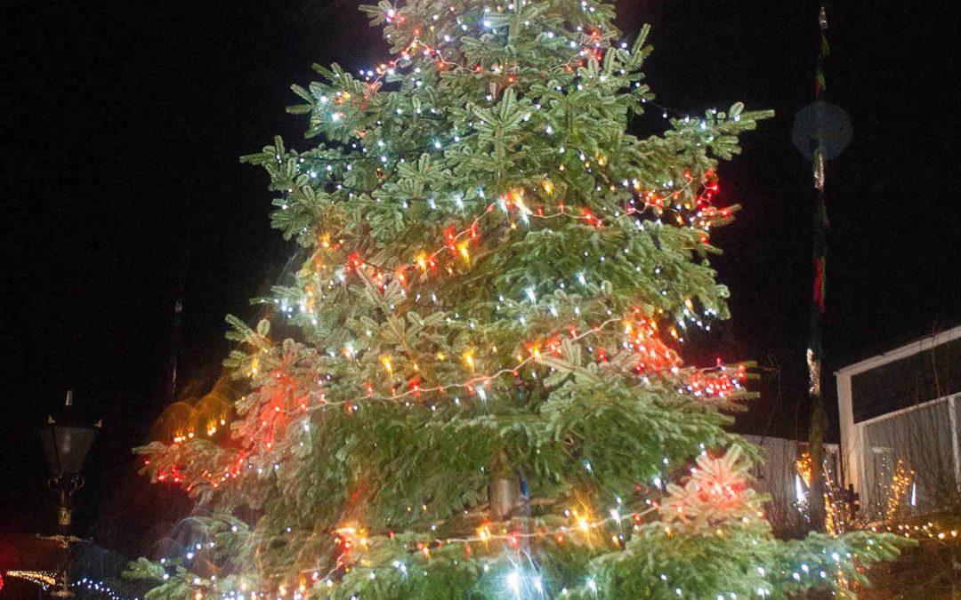 Camborne lights switch on draws the crowds