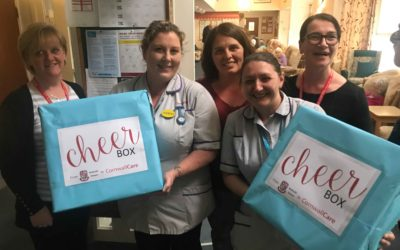 Care home residents receive 'cheer boxes' from students at Redruth School