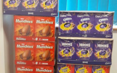 Easter egg donations to Cornwall Care staff