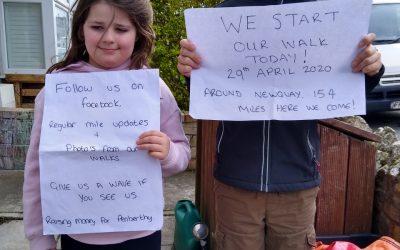 Children walk for Penberthy residents